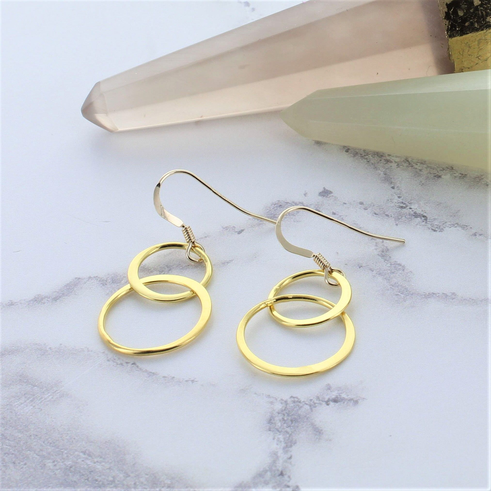 in silver dangle sterling earrings infinity
