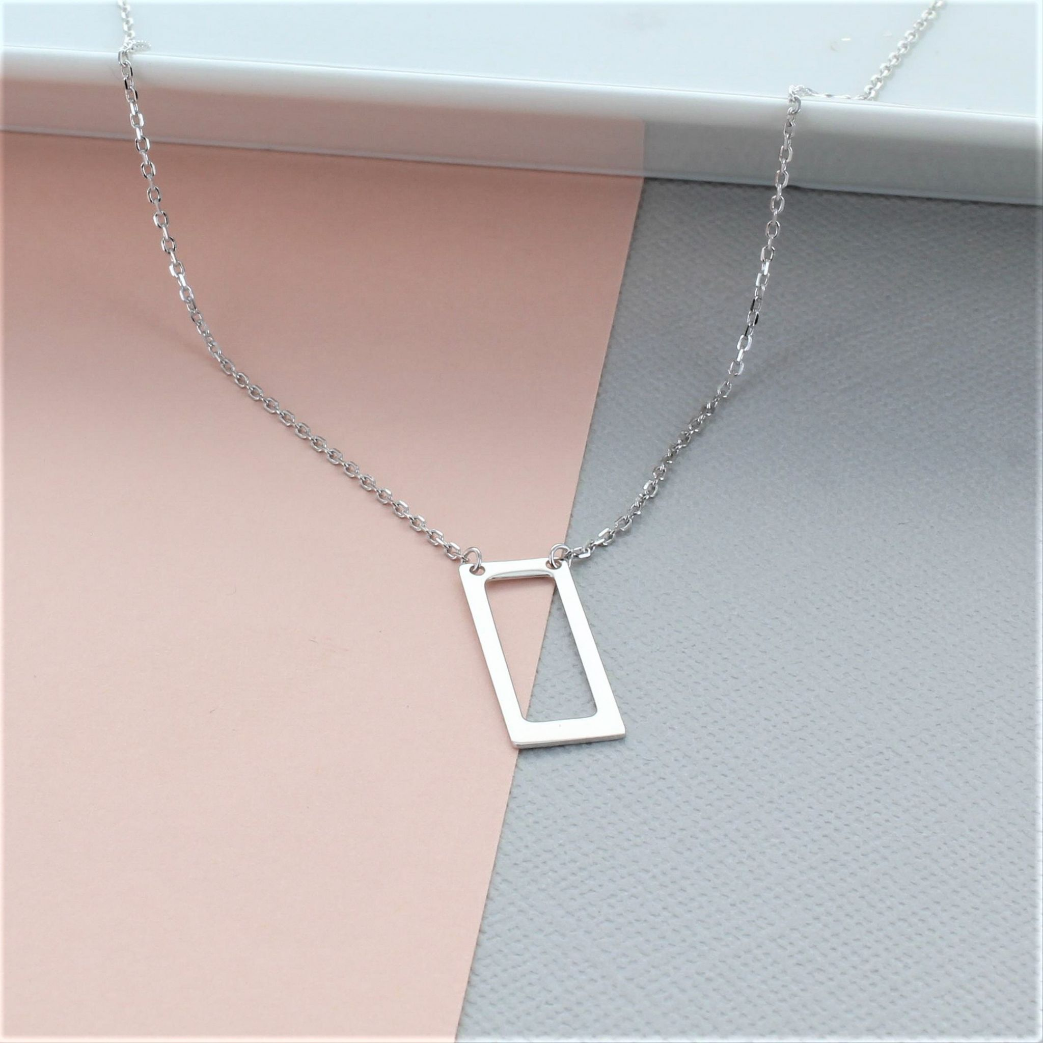 necklace rectangle products silver or stars open jewelry filled small throwing gold
